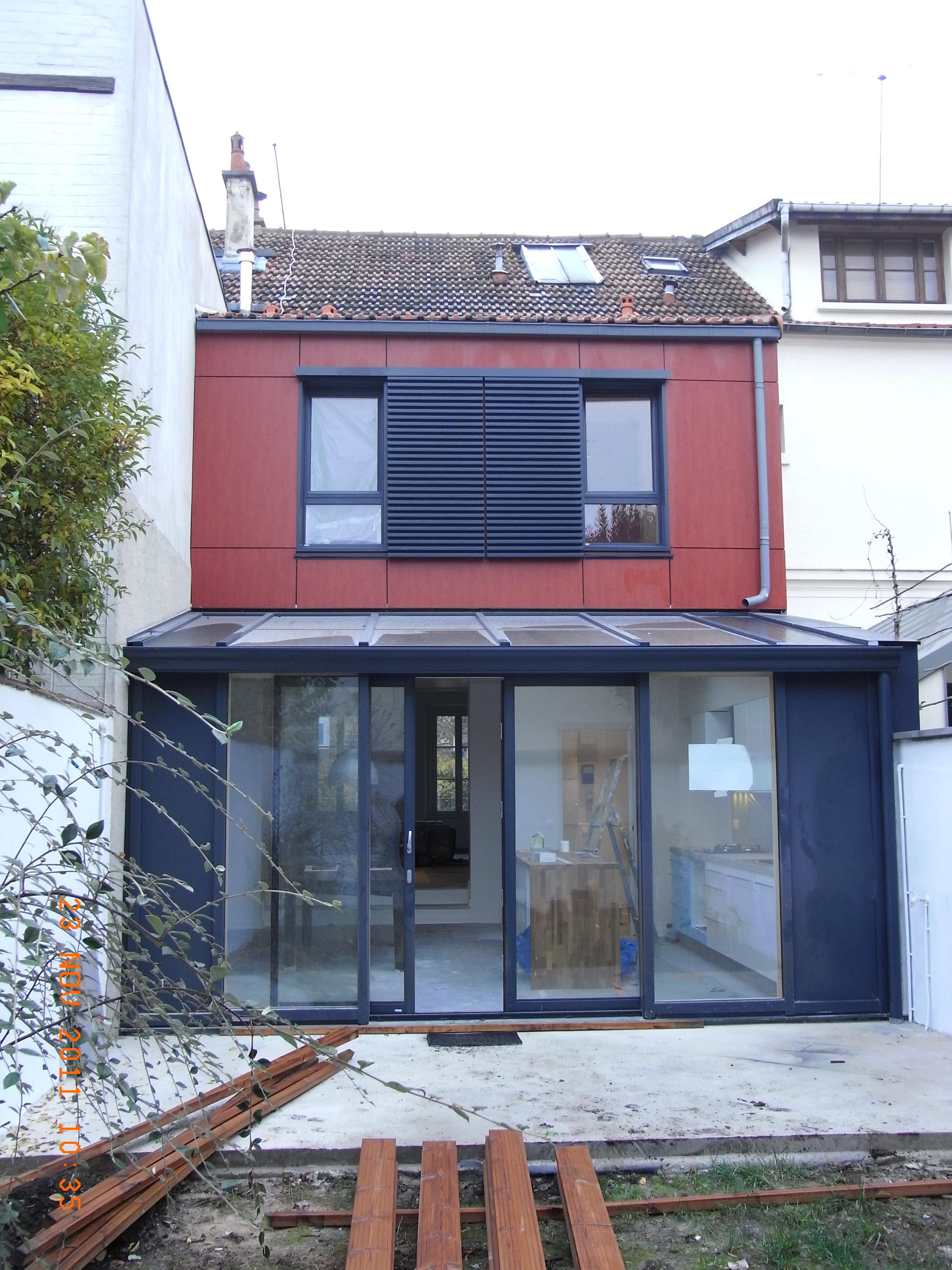 Creabois91 bardage for Extension maison tva