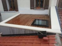 fenêtre de toit plat
