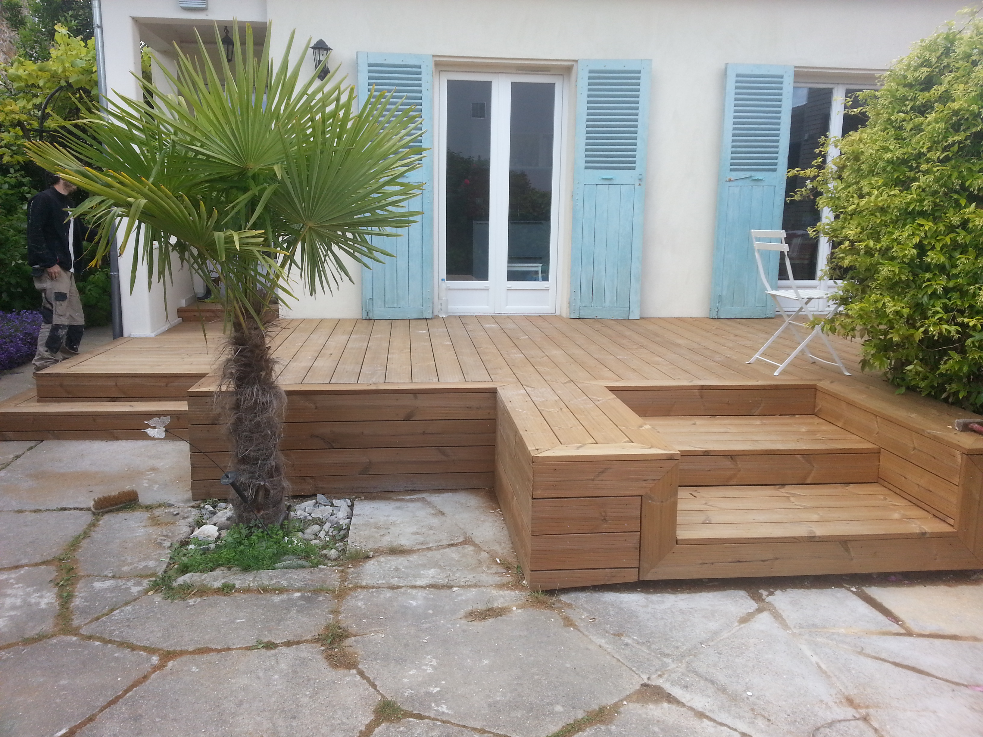 Creabois91 terrasse for Exterieur amenagement